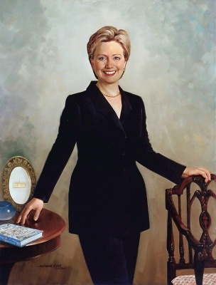 hillary Clinton by Simmie Knox