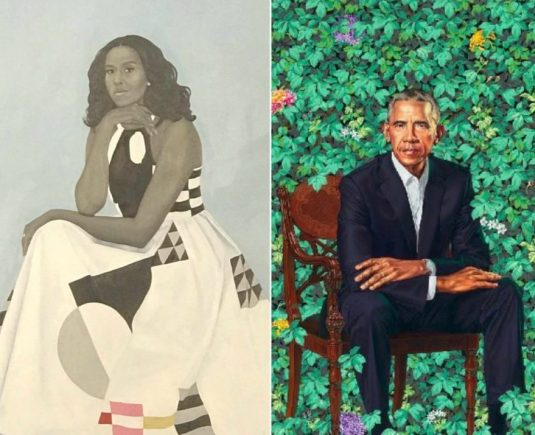 Obama Portraits Both